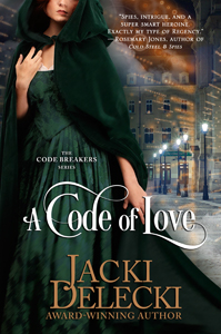 Jacki Delecki, A Code of Love, Regency romance, romantic suspense