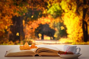 Coffee, book and autumn