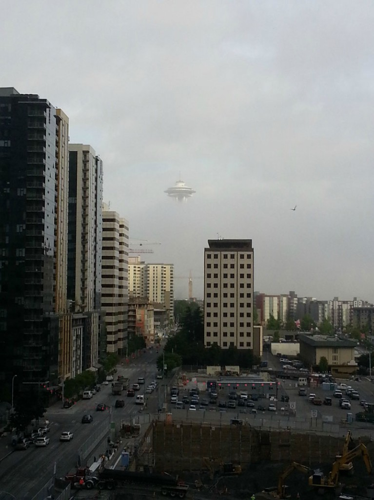 Seattle Space Needle UFO